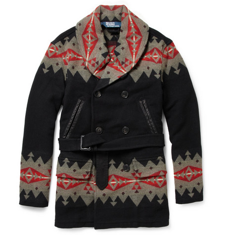 Polo Ralph Lauren Patterned Wool-Blend Coat