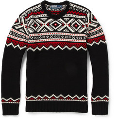 Polo Ralph Lauren Wool and Cashmere-Blend Intarsia Sweater