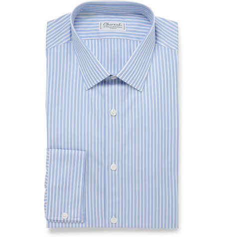 Charvet Slim Fit Striped Cotton Shirt