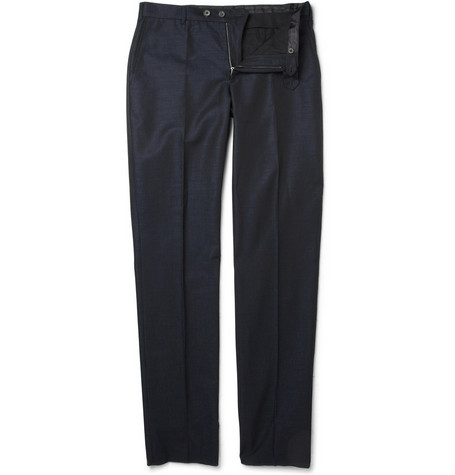 Lanvin Straight-Leg Cotton-Blend Suit Trousers