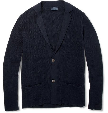 Lanvin Knitted Cotton-Piqué Cardigan