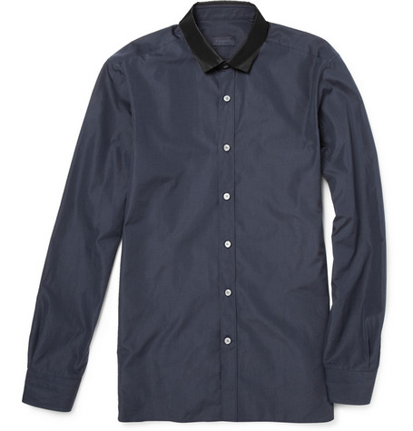 Lanvin Grosgrain and Cotton Shirt