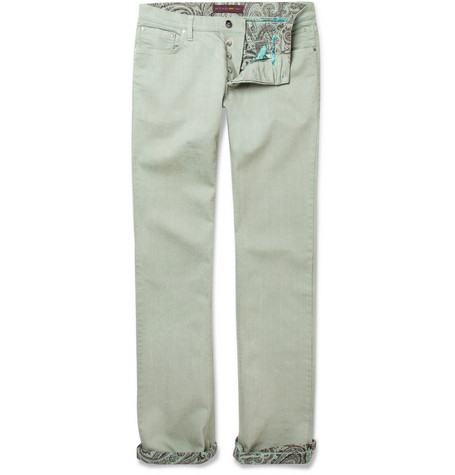 Etro Slim-Cut Cotton-Blend Jeans