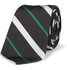 Black Fleece Striped Silk-Blend Tie