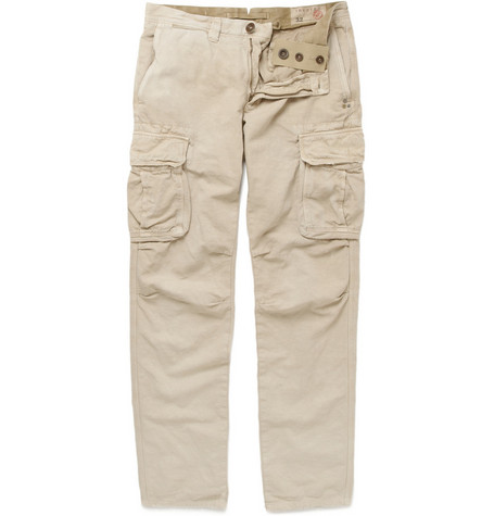 Incotex Incotex Cotton and Linen-Blend Slim-Fit Cargo Trousers