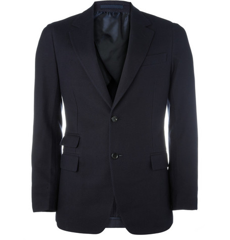 Yves Saint Laurent Basket Weave Cotton Blazer