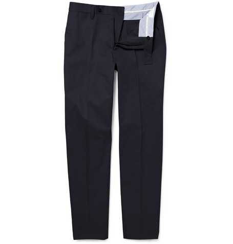Yves Saint Laurent Slim-Fit Cotton Gabardine Trousers