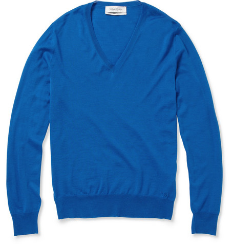 Yves Saint Laurent V-Neck Wool Sweater