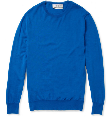 Yves Saint Laurent Wool Crew Neck Sweater
