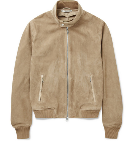 Yves Saint Laurent Suede Biker Jacket