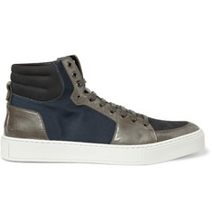 Yves Saint Laurent Malibu High Top Panelled Sneakers