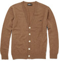 Mr. Bathing Ape Wool-Blend Moustache-Emblem Cardigan