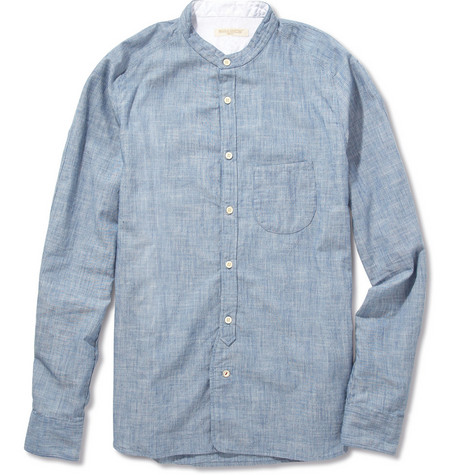 Levi's Made & Crafted Grandad-Collar Cotton Shirt