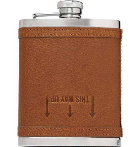 J.Crew Leather Drinks Flask