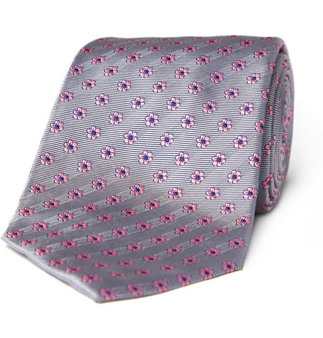 Turnbull & Asser Ribbed Flower Tie