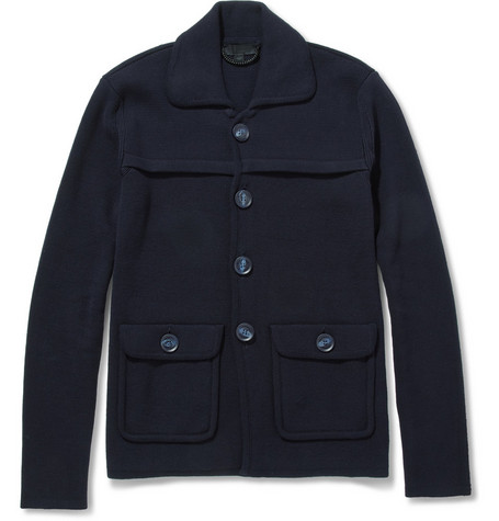Burberry Prorsum Heavyweight Cotton Cardigan Jacket