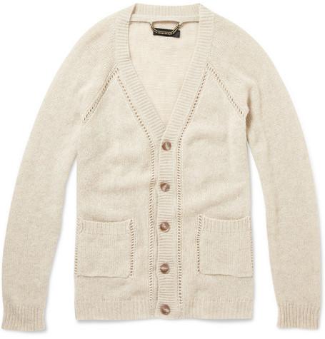 Burberry Prorsum Wide Seam Cashmere Cardigan