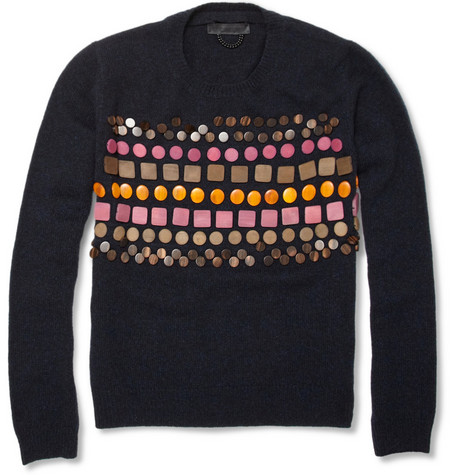 Burberry Prorsum Wooden-Badge Cashmere Sweater
