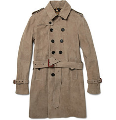 Burberry Prorsum<br /> Suede Trench Coat