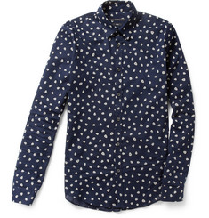 Gucci Patterned Slim-Fit Cotton Shirt
