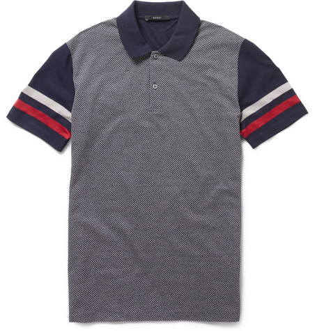 Gucci Diamond-Front Cotton Polo Shirt