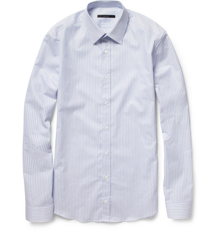 Gucci Slim-Fit Striped Cotton Shirt