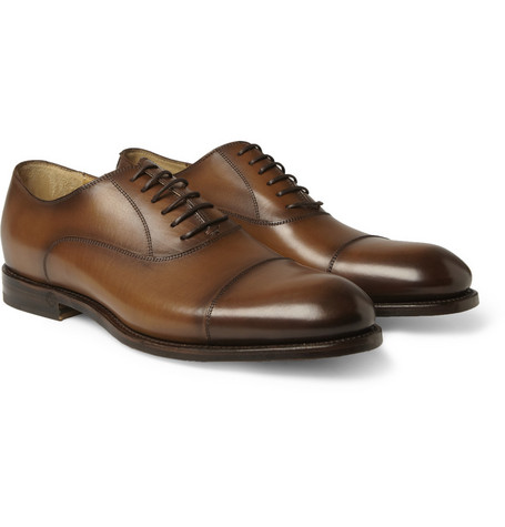 Gucci Classic Leather Oxford Shoes