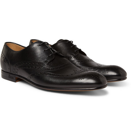 Gucci Leather Wingtip Brogues
