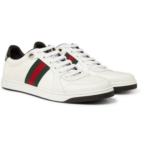 Gucci Striped Leather Sneakers