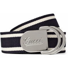 Gucci Canvas and Leather Belt