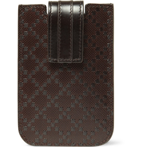 Gucci Diamond Pattern Leather iPhone 4 Case
