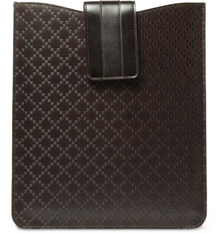 Gucci Diamond Pattern Leather iPad Sleeve