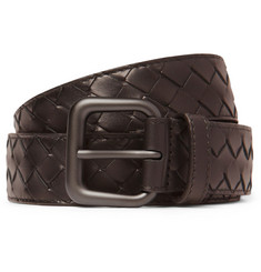 Bottega Veneta Wide Intrecciato Woven-Leather Belt