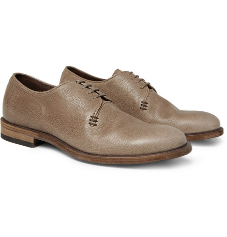 Bottega Veneta Full-Grain Leather Derby Shoes