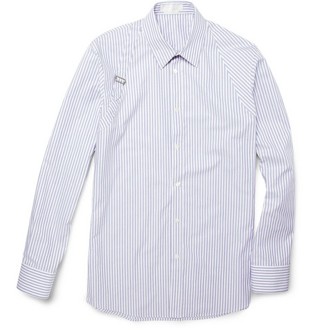 Alexander McQueen Striped Cotton Harness Shirt