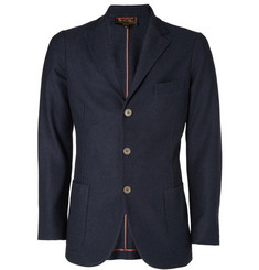 Loro Piana Navy Cashmere and Silk-Blend Unstructured Blazer