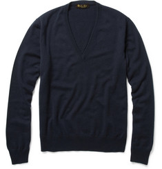 Loro Piana Silk and Cashmere V-Neck Sweater