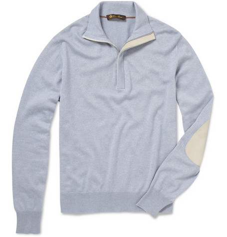 Loro Piana Silk and Cashmere Zip Collar Sweater