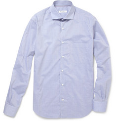 Loro Piana Spread Collar Cotton Shirt