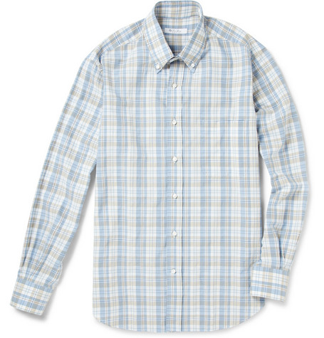 Loro Piana New Alfred Plaid Cotton-Blend Shirt
