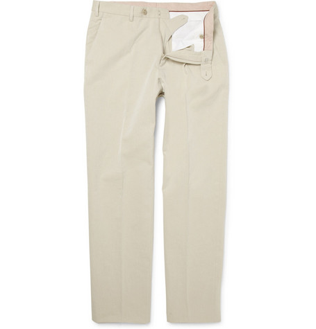 Loro Piana Straight-Leg Cotton Trousers