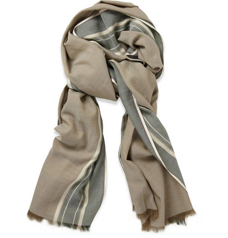 Loro Piana Striped Cotton Scarf
