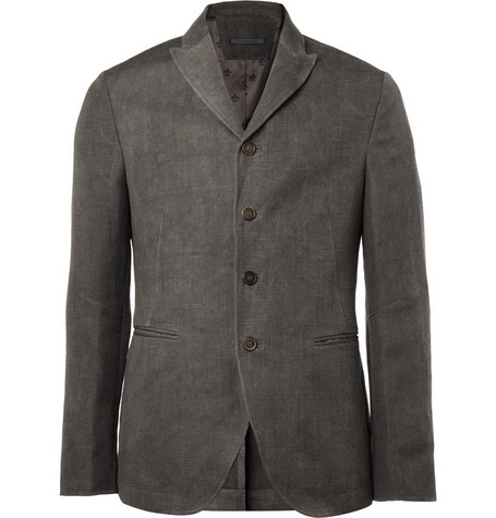 John Varvatos Hemp and Wool-Blend Jacket