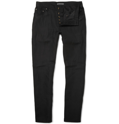 John Varvatos Linen and Wool-Blend Straight-Leg Jeans