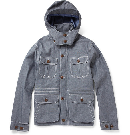 Woolrich Lightweight Cotton-Blend Chambray Jacket