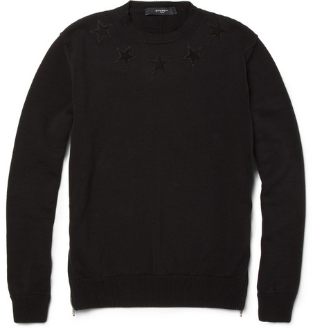Givenchy Appliquéd Knitted Cotton Sweater