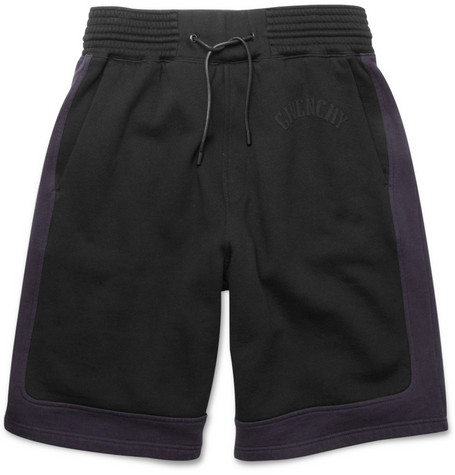 Givenchy Panelled Cotton Jersey Shorts