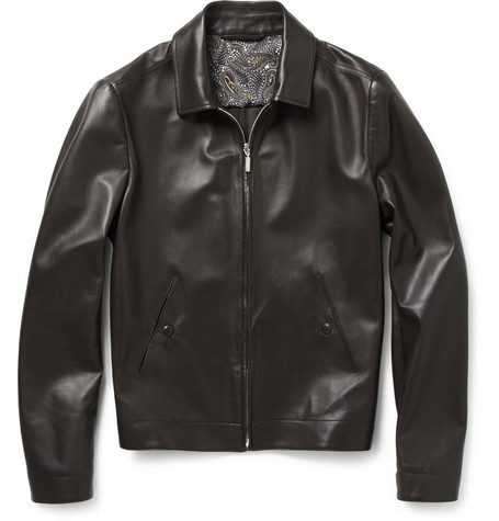 Brioni Nappa Leather Jacket