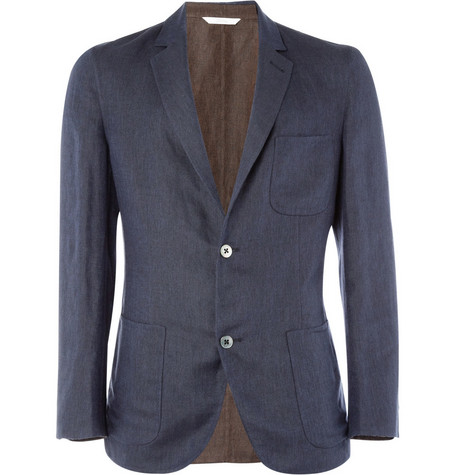 Brioni Unstructured Slim-Fit Linen-Blend Blazer