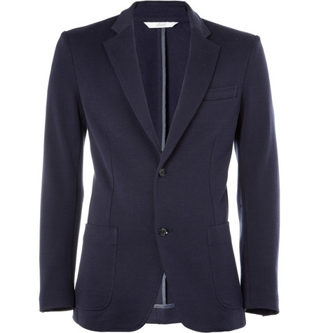Brioni Unstructured Slim-Fit Knitted Cotton Blazer